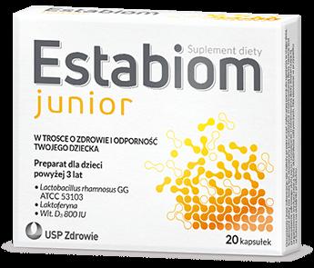 Opakowanie Estabiom Junior - probiotyki dla dzieci